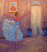 Golds Posters - Dancing to the Light Poster by Glenna McRae