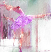 Hall Mixed Media Posters - Dancing to the Mirror Poster by Rosy Hall