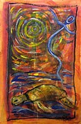 Shamanistic Paintings - Dancing Turtle Spirit by Mimulux patricia no