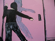 Shadow Dancing Paintings - Dancing with Shadow by Dotti Hannum