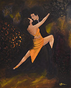 Dancer.dancers Mixed Media Posters - Dancing With The Stars Poster by Genevieve Brown