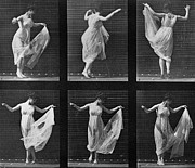 Woman Posters Framed Prints - Dancing Woman Framed Print by Eadweard Muybridge
