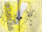 Sketchbook Mixed Media Prints - Danger Print by Chad Brown