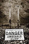 Sign Photo Framed Prints - Danger Framed Print by Mark Rogan