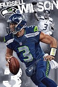 Espn Paintings - DangeRuss Russell Wilson by Joshua Jacobs