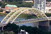 Ohio River Photos - Daniel Carter Beard Bridge Cincinnati Ohio by Paul Velgos