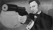 Craig Drawings - Daniel Craig by Subhash Mathew