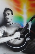 Famous People Painting Prints - Daniel Johns Print by Christian Chapman Art