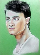 Daniel Pastels Prints - Daniel Radcliffe / Harry Potter Print by Bobby Boyer