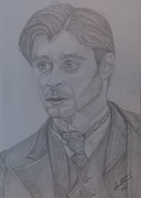 Original Print Drawings Originals - Daniel Radcliffe Portrait 2 by Melissa Nankervis