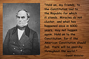 Daniel Digital Art Framed Prints - Daniel Webster On The Constitution of the United States Framed Print by Barbara Snyder
