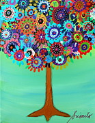 Baptism Painting Originals - Danielles Tree Of Life by Pristine Cartera Turkus