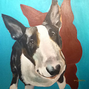 English Bull Terrier Paintings - Danny by Jesse Bateman