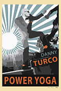 Chris Brown Framed Prints - Danny Turco Yoga Rebel Framed Print by Chris Brown