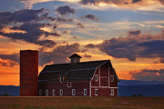 Red Barn Prints - Dannys Barn Print by Darren  White