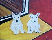 Judy Minderman Framed Prints - Dannys Dogs Framed Print by Judy Minderman