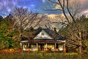 Old Farm Houses Prints - Dannys House Print by Reid Callaway