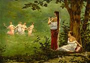 Dans La Prairie 1890 Print by Padre Art