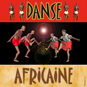 Drummers Digital Art Metal Prints - Danse Africaine Metal Print by Walter Neal