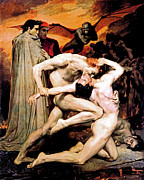 Nude Men Wrestling Art - Dante and Virgil in Hell by The  Vault
