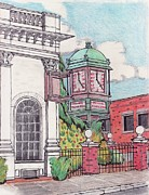 Clocks Drawings - Danvers Square Icon by Paul Meinerth