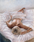 Semi-nude Framed Prints - Dappled and Drowsy Framed Print by John Worthington