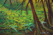 Moss Green Pastels Prints - Dappled Forest Print by Daniel Wend