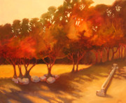 Garden Painting Originals - Dappled Light by Sue  Darius