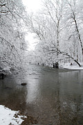 David Yunker Prints - Darby Creek Dusting Print by David Yunker