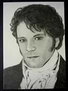 Pride And Prejudice Drawings - Darcy by Terri Wyatt