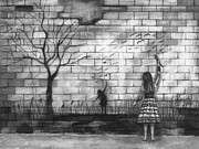 Bricks Drawings - Dare To Be by J Ferwerda