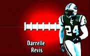 New York Jets Framed Prints - Darelle Revis New York Jets football soccer Framed Print by Lanjee Chee