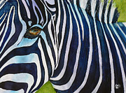 Zoo Animals Paintings - Darica Zebra by Marie Stone Van Vuuren