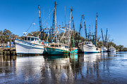Shrimping Acrylic Prints - Darien Harbor Acrylic Print by Debra and Dave Vanderlaan