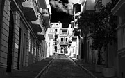 Dark Alley In San Juan Print by John Rizzuto