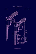 Starr Digital Art - Dark Beaumont Revolver patent by Nomad Art And  Design