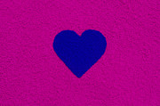 Dark Blue Heart Print by Tim Gainey
