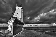 Monochromatic Art - Dark Clouds Black and White by Sebastian Musial