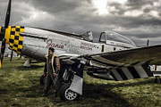 P51 Mustang Posters - Dark clouds Mustang Poster by Chris Smith