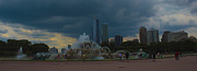 Chicago Fountain Prints - Dark Clouds Over Chicago Print by Logan Evans