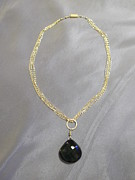 Featured Jewelry - Dark green quartz chain necklace by Jan Durand