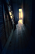 Haunted House Photo Posters - Dark Hallway Poster by Jill Battaglia