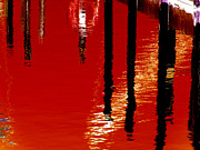 Reflections In Water Prints - Dark Harbor Print by Shawna  Rowe