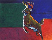 Eastern Point Paintings - Dark Hollow Creek Buck by Joe  Triano