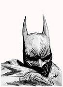 Super Hero Drawings - Dark Knight by KG Christopher