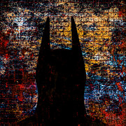 Batman Digital Art Metal Prints - Dark Knight Number 4 Metal Print by Bob Orsillo