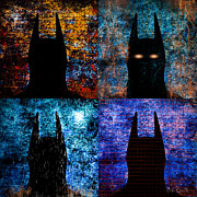 Superhero Metal Prints - Dark Knight Number 5 Metal Print by Bob Orsillo