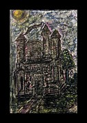 Inktense Prints - Dark Mansion Print by Mimulux patricia no