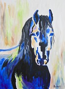 Veronica Silliman - Dark Mustang Abstract