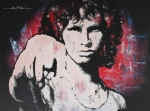 Jim Morrison Drawings Prints - Dark Poet Print by Eric Dee